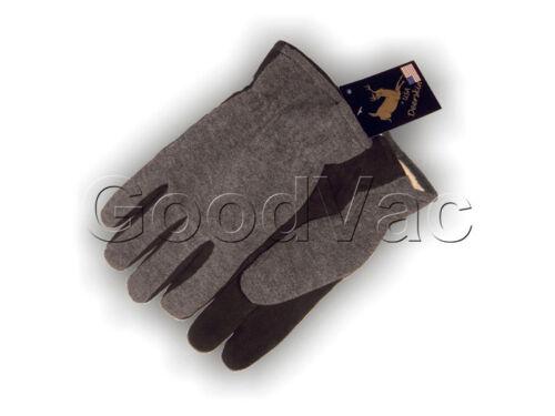 Majestic 1663 Split Soft Deersking Leather Palm Heatlok Winter Fleece Gloves L