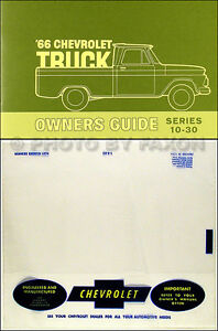 1966 chevy truck owner manual with envelope 66 pickup suburban c10 rh ebay com 1966 chevy truck manual transmission 1967 Chevy Truck