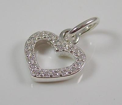 Genuine PANDORA Sterling Silver Heart Pendant - 390325CZ