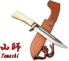 "Kanetsune Seki Yamashi 8.27"" Blue Steel Core Oak & Cocobolo Wood Handle KB-144"