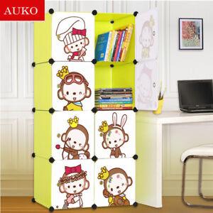 Cute Kid Cartoon 2 3 4 6 8 12 Cubes Storage Cabinet Wardrobe Toy Book Shelve Kth Ebay