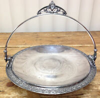 Antique Victorian Silverplate Footed Cake Basket Brides James Tufts Boston 2706