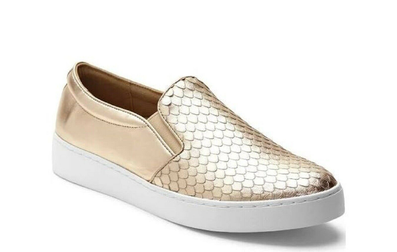 Vionic Orthaheel SPENDID MIDI Leather Slip-On shoes Sneakers CHAMPAGNE 10 M NIB