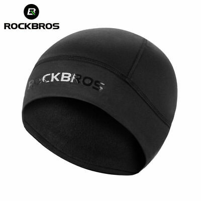 Rockbros Winter Windproof Cycling Warm Headscarf Thermal Cap Upgrade Black L