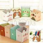 Cute Cat DIY Paper Board Clean up Desk Desktop Organizer Stationery Storage Box
