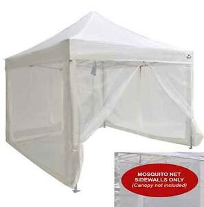 Image is loading 10x10-Pop-Up-Canopy-Tent-Mesh-Sidewalls-Screen-  sc 1 st  eBay & 10x10 Pop Up Canopy Tent Mesh Sidewalls Screen Room Mosquito Net ...
