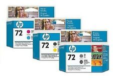3 x Druckköpfe HP Designjet T610 T620 T790 T1100 T1200 / Nr. 72 C9384A -C9380A