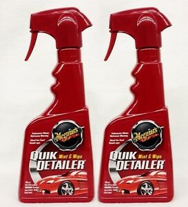 2 meguiars quik detailer spray wipe quick cleans. Black Bedroom Furniture Sets. Home Design Ideas