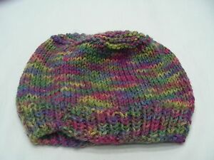 f33387bfffa HAND KNITTED - MULTI-COLOR - INFANT ONE SIZE - STOCKING CAP BEANIE ...