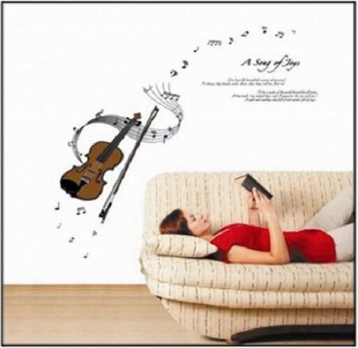 Home Decor Removable DIY Vinyl Wall Sticker Relaxing Music Violin   PROMOTION!!