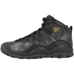 Retro Black 012 Mid Nyc Cut Nike Schuhe Bg Gold Air Jordan 10 310806 Sneaker UC6ntqAw