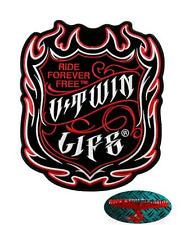 V-TWIN LIFE Patch Aufnäher Aufbügler Biker Motorrad Rocker Harley USA Hot Streak