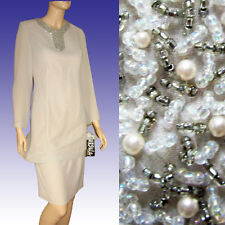 URSULA of Switzerland LAYERED Eve Dress NWT w BEAD & PEARL Detail - Alabaster 6