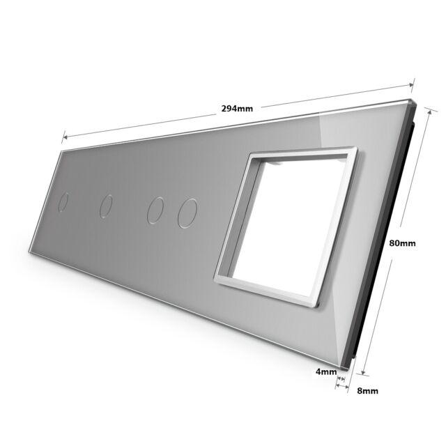 Livolo Seulement Glasblende 2 Compartiment Cadre en Verre pour Interrupteur