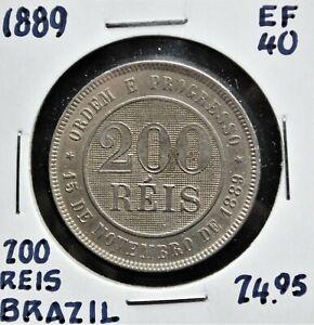 1889-Brazil-200-Reis-EF-40