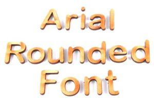 Arial rounded wooden letters lettering word craft card for Furniture 5 letters word whizzle