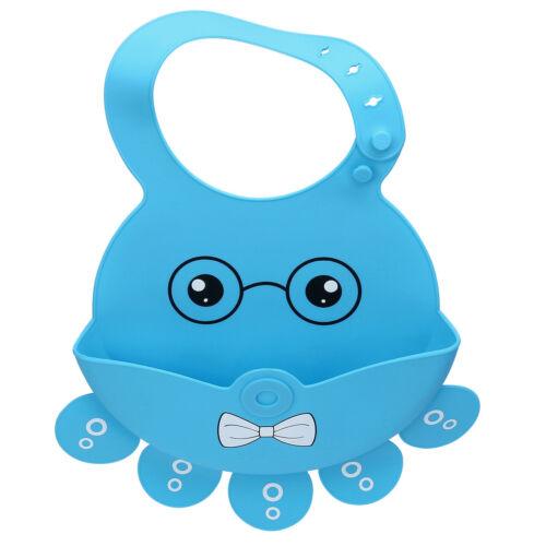 Kid Infant Baby Feeding Cartoon Waterproof Saliva Dripping Silicone Bibs Cute