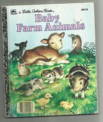 Vintage 1958 Reissue Baby Farm Animals Garth Williams Hardback Golden Book