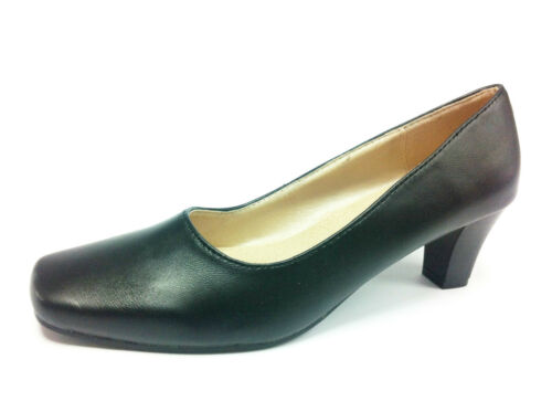 9 Black Courts Woman Working Look 4 In Silponcomfortable Lady Blacks Leather Size Shoes IPBZPg
