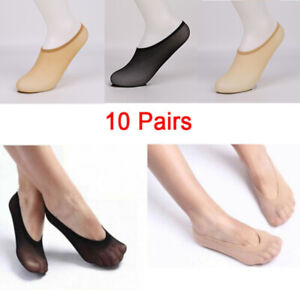 10-Pairs-Women-Invisible-Footsies-Shoe-Liner-Trainer-Ballerina-Boat-Socks-RO