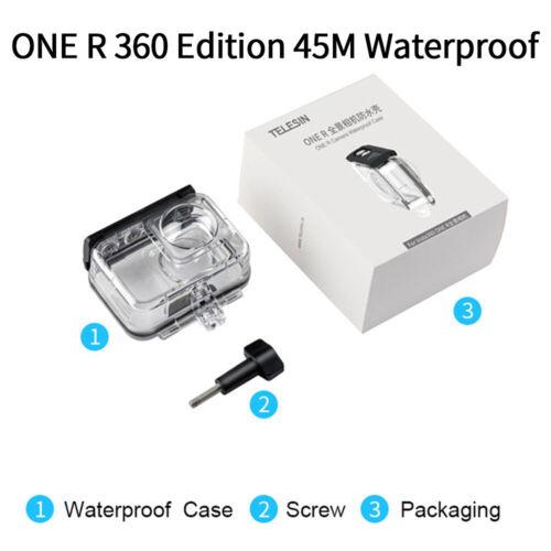 TELESIN 45M Carcasa Funda Impermeable Submarina Para Insta 360 One R 4K edición 360