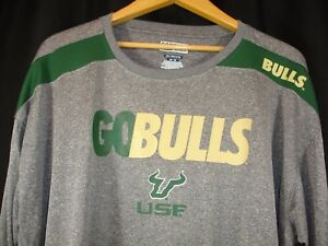 7566c8fa USF Bulls Majestic Mens Go Bulls Gray Long Sleeve T-Shirt 2XL | eBay