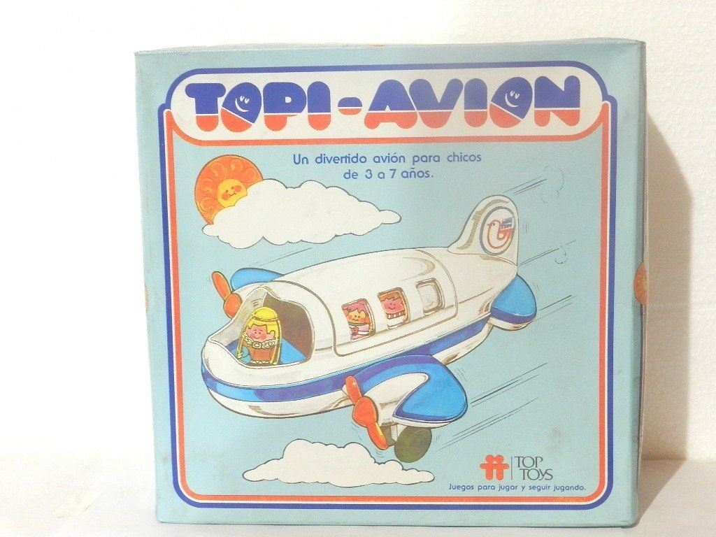 VINTAGE WEEBLE WOBBLE AIRPLANE (INCLUDES 5 DOLLS) MINT IN BOX 1973 VARIANT RARE