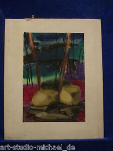 """Wilhelm Barley Berger """"Odenwald"""" strongly coloured, OBI Watercolour"""