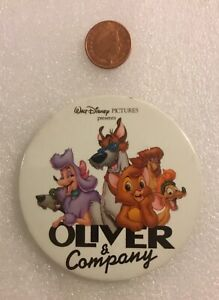 Rare-Vintage-DISNEY-CAST-MEMBERS-PIN-BADGE-OLIVER-AND-COMPANY