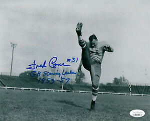 PACKERS-Fred-Cone-signed-8x10-photo-w-Scoring-Leader-1953-57-JSA-AUTO-Autograph