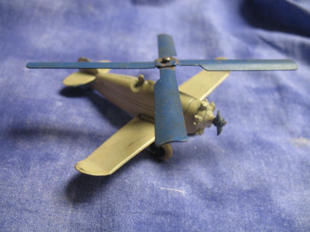 Muy buen Vintage 1930 Tootsie Toy cream-Coloreee gryo-plane