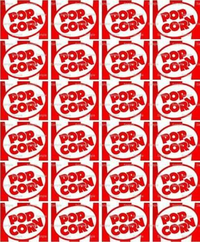 Movie Night Popcorn Birthday ~ Edible 2D Fondant Cake Cupcake Topper ~ D4858 *