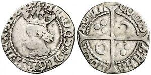 CROAT-SPAIN-FRANCE-PERPINA-Perpinya-ALFONSO-IV-1416-1458-VERY-SCARCE-PLATA