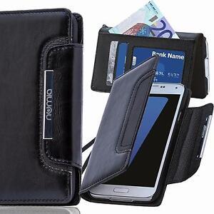 Handy-Tasche-Schutz-Huelle-Wallet-Case-Etui-Flip-Cover-Fuer-Sony-Xperia-M5-Schwarz