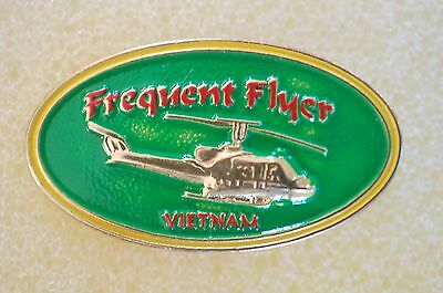 US USA Frequent Flyer Vietnam Military Hat Lapel Pin