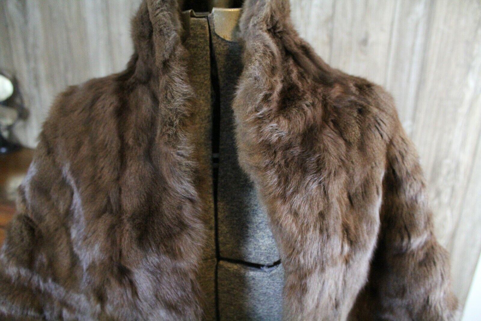 Vintage Goldblatt's Fur Shaw Stole Brown Mink Old… - image 7