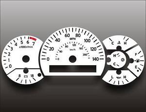 White-Face-Gauge-Kit-Fits-2004-2007-Nissan-Titan-Armada-Dash-Instrument-Cluster