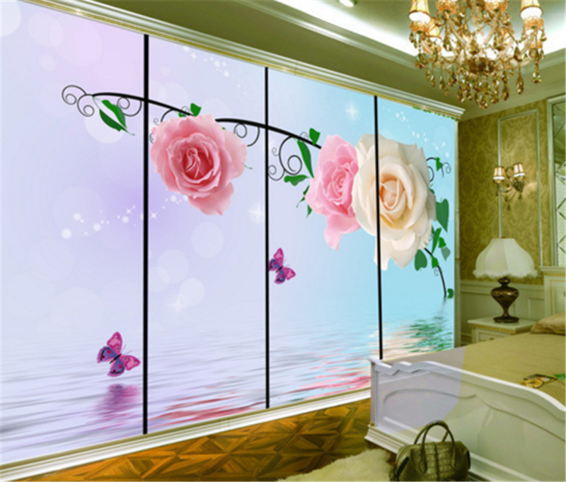 3D Flowers Water Drops 938 Wallpaper Mural Paper Wall Print Wallpaper Murals UK