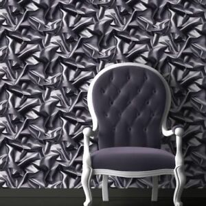3d crushed velvet silk fabric effect vinyl wallpaper grey for 3d effect wallpaper uk