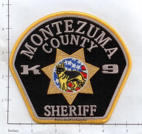 Colorado Montezuma County Sheriff K-9 CO Police Dept Patch