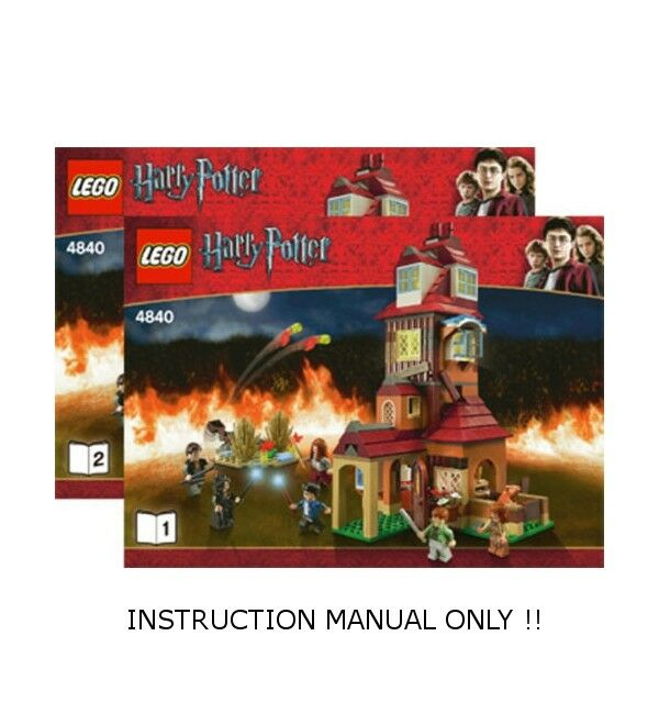 LEGO 4840 - HARRY POTTER - The Burrow - INSTRUCTION MANUAL ONLY - Book 1 & 2