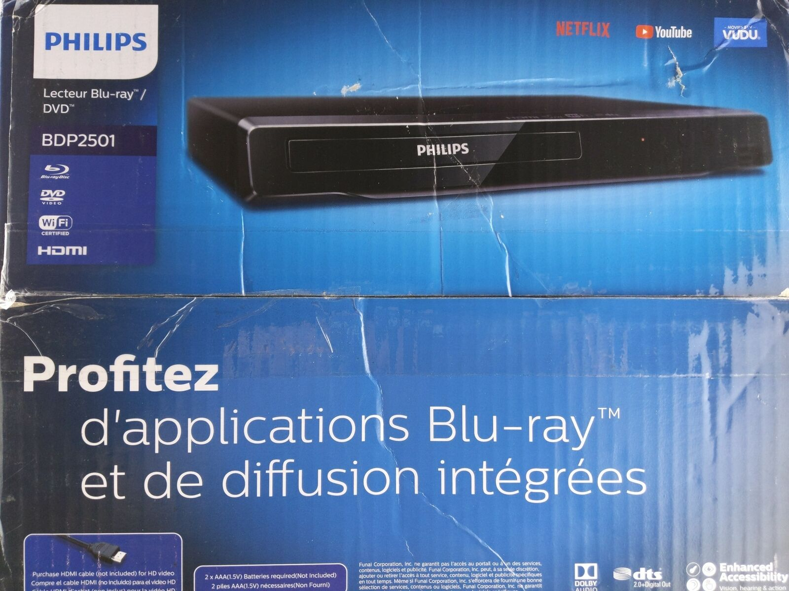 Philips WiFi Streaming Blu-Ray and DVD Player - BDP2501/F7 and dvd philips player streaming wifi