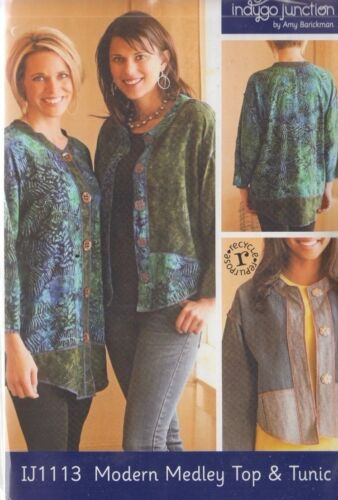 Modern Medley Top /& Tunic Indygo Junction PATTERN women/'s sewing PATTERN