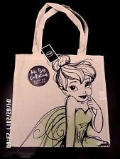 NEW WITH TAGS DISNEY TINKERBELL CANVAS REUSABLE SHOPPING SHOULDER BAG