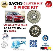 FOR VW GOLF V VI PLUS 1.6 2.0 TDi 4Motion 16V 2005-> SACHS 2 PIECE CLUTCH KIT