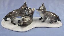 Seltene Fuchsgruppe figur von Rosenthal  fuchs  fox figurine heidenreich 1937