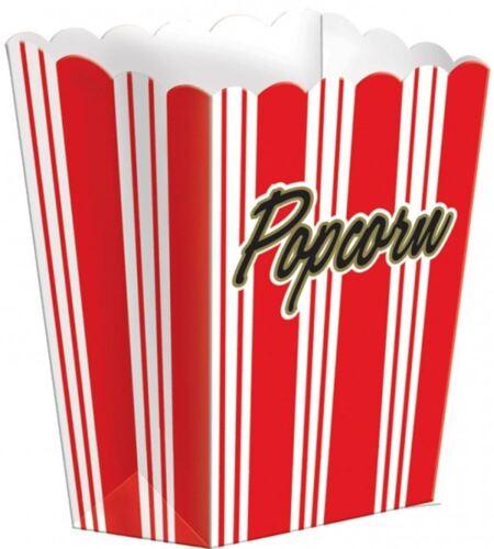 8 x 13CM hollywood classic red popcorn boîtes fête d/'anniversaire vaisselle 372002