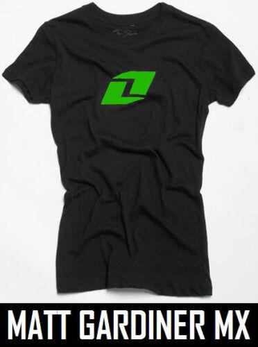 One Industries t-shirt femme top numero uno Tee Noir Motocross MX