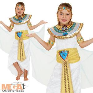 Image is loading Deluxe-Egyptian-Cleopatra-Queen-Kids-Fancy-Dress-Girls-  sc 1 st  eBay & Deluxe Egyptian Cleopatra Queen Kids Fancy Dress Girls Historical ...