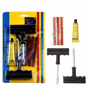 car bike motorcycle tire repair kit tyre puncture plug. Black Bedroom Furniture Sets. Home Design Ideas